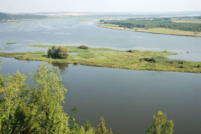 Река Чусовая на карте