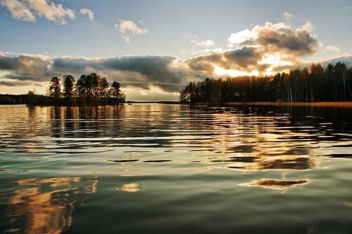 Озеро Вуокса на карте
