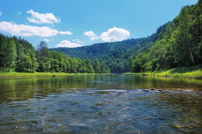 Река Зилим на карте