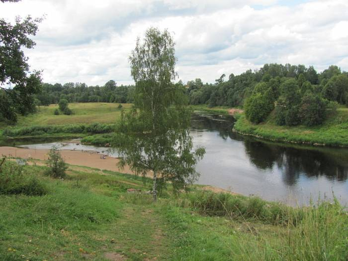 Река Ловать на карте